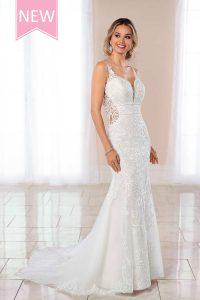 Taffeta and lace wedding dresses Gloucester Stella York 6914