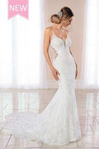 Taffeta and lace wedding dresses Gloucester Stella York 6958