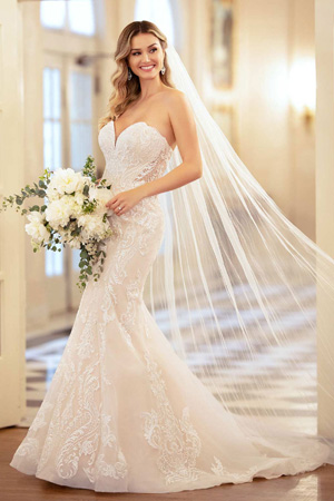 Taffeta and lace wedding dresses Gloucester Stella York 6979