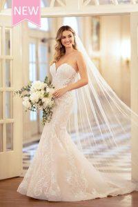 Taffeta and lace wedding dresses Gloucester Stella York 6979