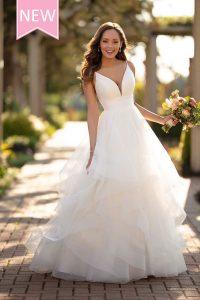 Taffeta and lace wedding dresses Gloucester Stella York 6988