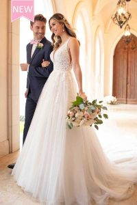 Taffeta and Lace wedding dresses Gloucester Stella York 6752