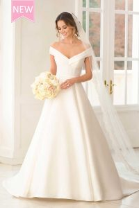 Taffeta and Lace wedding dresses Gloucester Stella York 6865