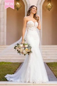 Taffeta and Lace wedding dresses Gloucester Stella York 6867