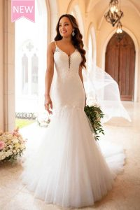 Taffeta and Lace wedding dresses Gloucester Stella York 6883