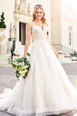 Taffeta and lace wedding dresses Gloucester Stella York 6886-1-530x845