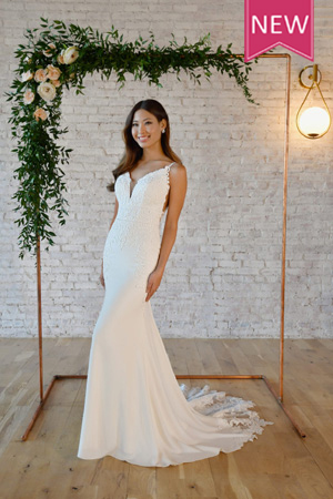Taffeta and lace wedding gowns gloucester stella york 7324