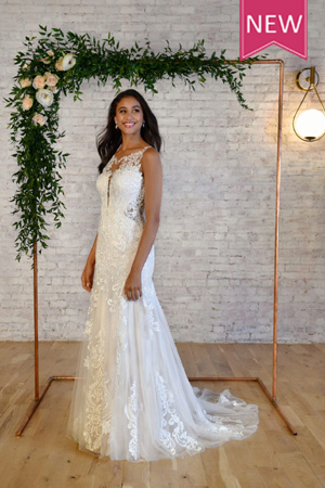Taffeta and lace wedding gowns gloucester stella york 7325