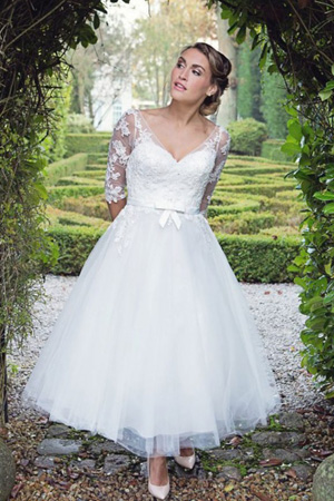 taffeta-and-lace-wedding-dresses Gloucester House of Nicholas
