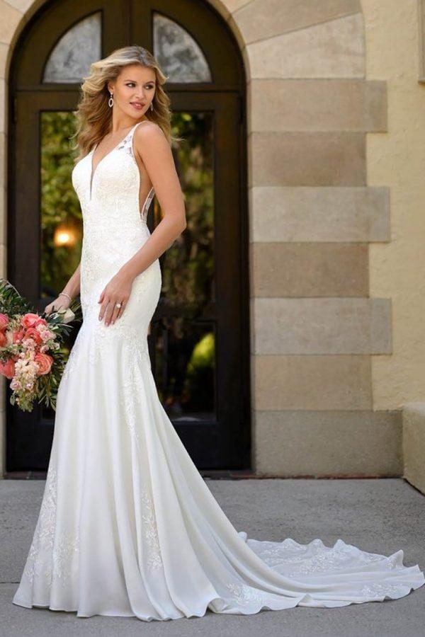 taffeta and lace wedding dresses gloucester stella-york