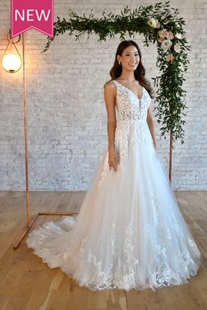 taffeta and lace wedding gowns gloucester stella york 7194-ribbon