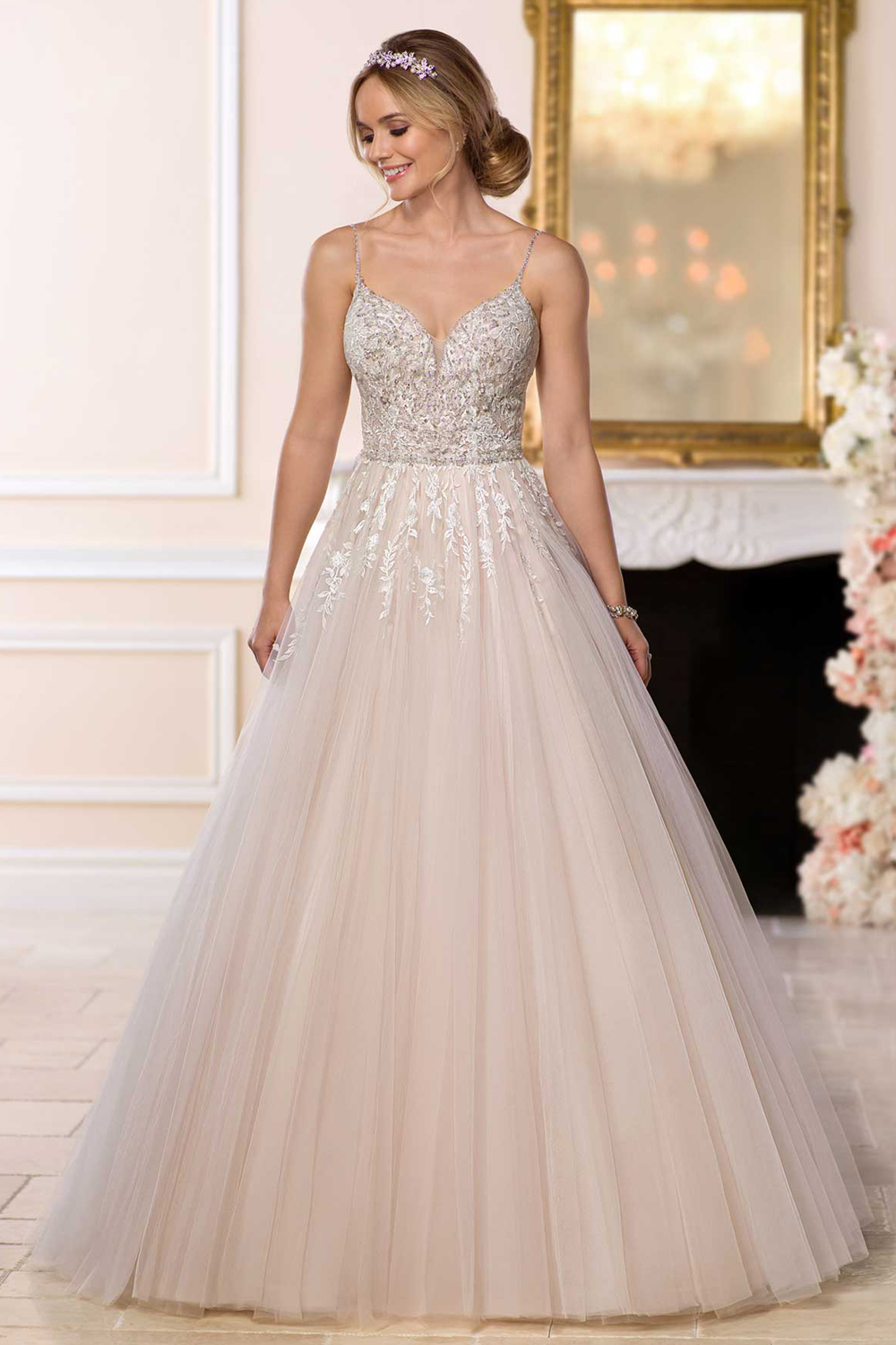 Stella york 6598 perfect princess wedding gown for Wedding dress with buttons all the way down