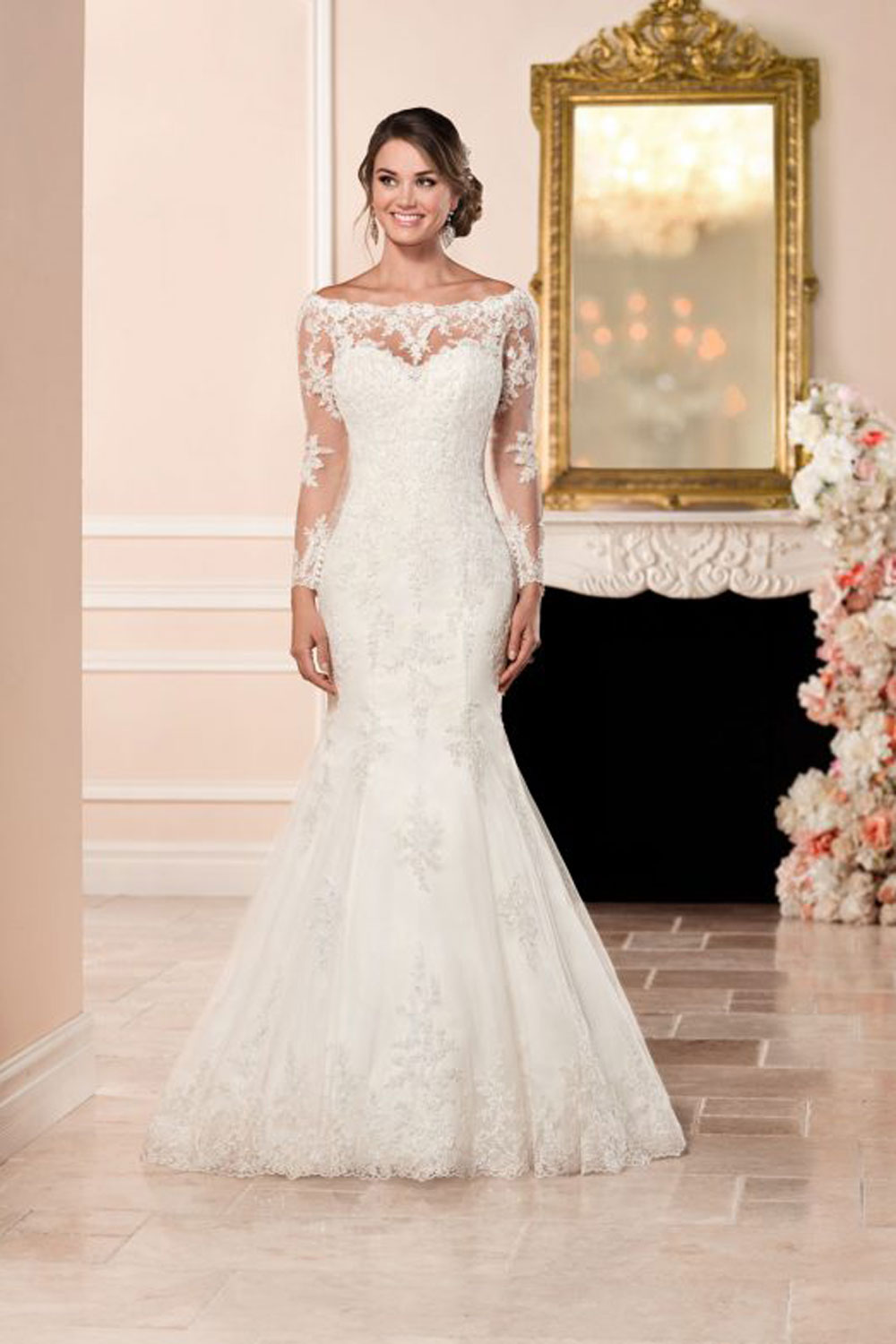 Stella york 6353 long sleeved wedding dress with illusion back junglespirit Gallery