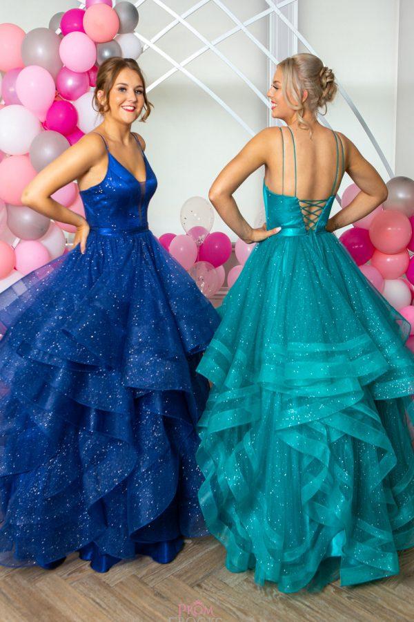 Taffeta and lace gloucester prom dresses