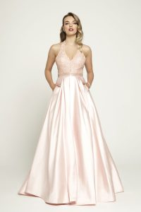 Taffeta and Lace Prom Dresses Gloucester Romantica 2020_prom_a153-001