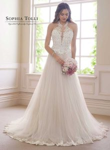 Sophia Tolli wedding gowns at Taffeta and Lace Gloucester y21812a-sophia-tolli