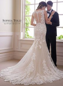 Sophia Tolli wedding gowns at Taffeta and Lace Gloucester y21819b-sophia-tolli