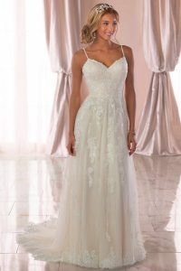 Taffeta and Lace wedding dresses Gloucester Stella York 6744-1
