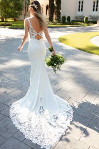 Taffeta and Lace wedding dresses Gloucester Stella York 6834-2