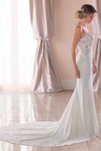 Taffeta and Lace wedding dresses Gloucester Stella York 6834-5