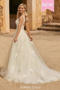 Taffeta and Lace Wedding Dresses Gloucester Chiara