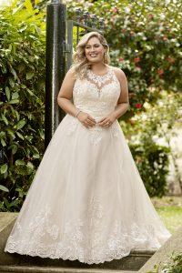 Taffeta and Lace wedding dresses Gloucester Sophia Tolli Y11948_Plus_Lookbook_D02_71