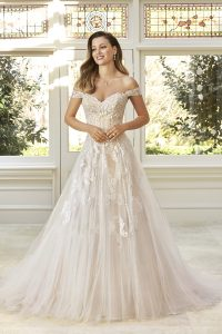 Taffeta and Lace wedding dresses Gloucester Sophia Tolli Y11949_Lookbook_D03_511