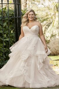 Taffeta and Lace wedding dresses Gloucester Sophia Tolli Y11958_Plus_Lookbook_D02_29