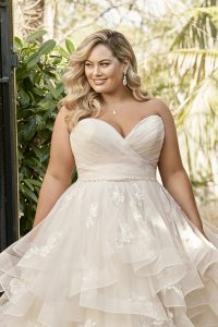 Taffeta and Lace wedding dresses Gloucester Sophia Tolli Y11958_Plus_Lookbook_D02_31