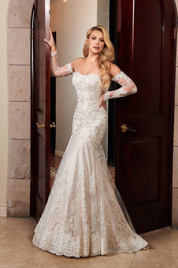Taffeta and Lace wedding dresses Gloucester Rachel Allan MB4091