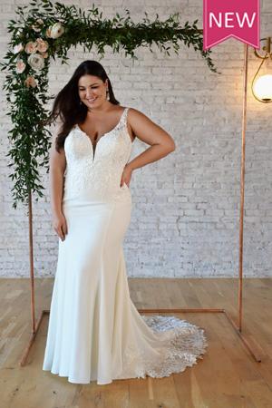 taffeta and lace gloucester wedding dresses 7335