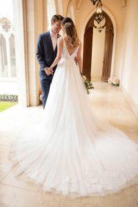 Taffeta-and-Lace-wedding-dresses Gloucester Stella York 6752