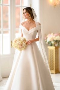 Taffeta-and-Lace-wedding-dresses Gloucester Stella York 6865