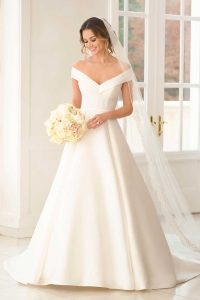 Taffeta-and-Lace-wedding-dresses Gloucester Stella York 6865