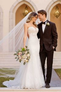 Taffeta-and-Lace-wedding-dresses Gloucester Stella York 6867