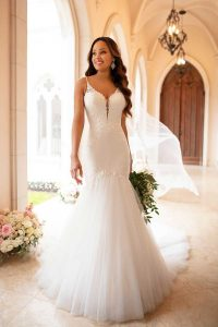 Taffeta-and-Lace-wedding-dresses Gloucester Stella York 6883