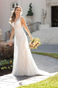 Taffeta-and-Lace-wedding-dresses Gloucester Stella York 6940-1