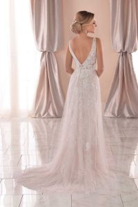 Taffeta-and-Lace-wedding-dresses Gloucester Stella York 6940