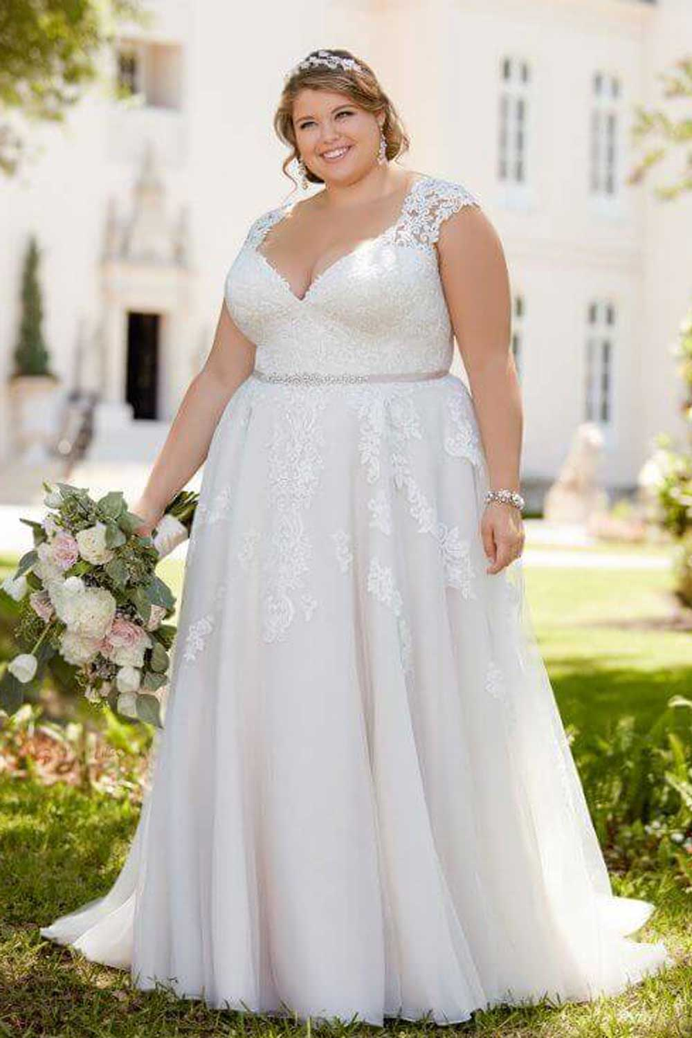 Taffeta and Lace wedding dresses Gloucester Stella York EBEB 6391-A1