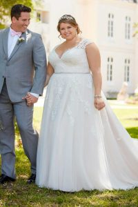 Taffeta and Lace wedding dresses Gloucester Stella York EBEB 6391-A2