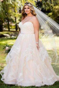 Taffeta and Lace wedding dresses Gloucester Stella York EBEB 6432