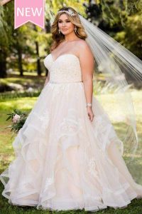 Taffeta and Lace wedding dresses Gloucester Stella York EBEB 6432-ad1
