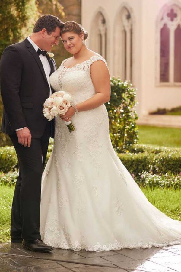 Taffeta and Lace wedding dresses Gloucester Stella York EBEB 6569A3