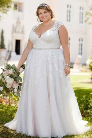 taffeta and lace wedding dresses Gloucester stella-plus-size-6391
