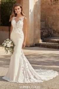 Taffeta and Lace Wedding Dresses Gloucester laura-y12013A