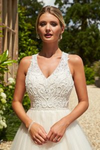 Taffeta and lace wedding dresses Gloucester 2020_romantica_giovanna