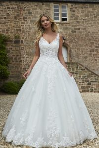 Taffeta and lace wedding dresses Gloucester 2020_romantica_madeline