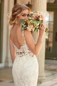Taffeta and lace wedding dresses Stella York 6914-