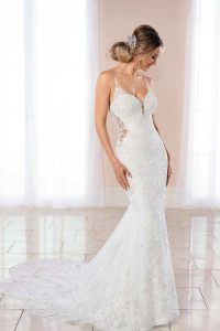 Taffeta and lace wedding dresses Stella York 6958