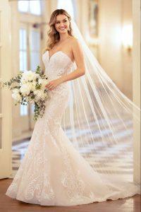 Taffeta and lace wedding dresses Stella York 6979-1